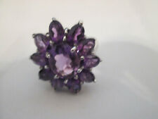 BEAUTIFUL AMETHYST  RING SIZE 8 STERLING.