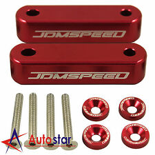 Red JDMSPEED Hood Spacer Risers Kit Set  For Acura Integra Honda Civic
