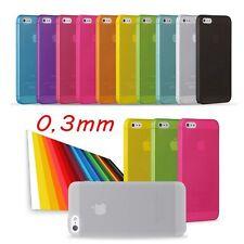PROTEZIONE ULTRA SOTTILE 0,3 MM + PELLICOLA OMAGGIO IPHONE 5 5S 5C COVER CASE