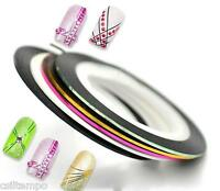 2 STRIPING TAPE STRIPPER NASTRO ADESIVO NAIL ART DECORAZIONE UNGHIE GEL ACRILICO