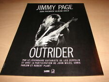 JIMMY PAGE - OUTRIDER!!!!!!!FRENCH VINTAGE PRESS ADVERT
