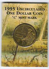 1995 RAM $1 UNC (Waltzing Matilda 'C' Mintmark)