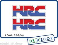 "2 Adesivi in vinile ""HRC"" dim. 9,3x3,2 cm X Honda CBR, VFR, Africa Twin, Horne"