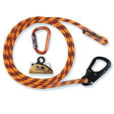 "Tree Climber Flipline Kit,Non Steel,7/16""x15' Blaze,24 Strand,Adjuster,Carabiner"