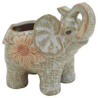 Ceramic Mini Elephant Cacti Succulent Plant Pot Flower Planter Garden Home  H4R8