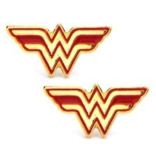 Wonder Woman Comics Earrings Stainless Steel Post with Logo Stud Earrings