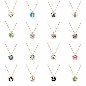 25MM Alloy Rose Gold Locket Pendant Essential Oil Perfume Diffuser Necklace