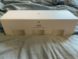 Google WiFi AC1200 Dual-band Mesh Wi-fi Router - White - 3 PACK WITH BOX - MINT!