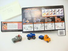 Vintage 1988 Micro Transformers, Powertrain, Highjump, Mudslinger, Lot 6/18