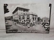 Vecchia cartolina foto d epoca di Chianciano Terme albergo risorgimento e bar