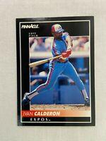 Ivan Calderon Montreal Expos 1992 Pinnacle Baseball Card 58