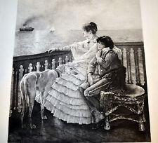 Alfred STEVENS FAREWELL Grande Eau Forte Originale 19e LEFORT