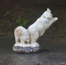 Bears Carved 87x88mm in Deer Antler Bali Carving ST425