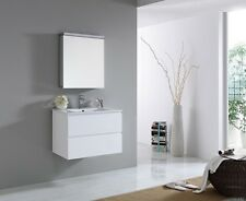 PEARL 750mm Double Drawer Polyurethane Wall Hung/Freestanding Bathroom Vanity