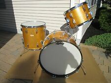 VINTAGE LUDWIG SUPER CLASSIC 13 16 22 DRUM SET GOLD SPARKLE KEYSTONE 1960'S