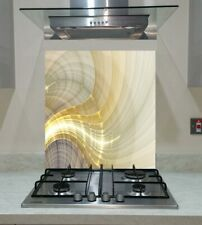 Splashback Toughened Glass Modern Unique Kitchen Abstract Waves Any Sizes