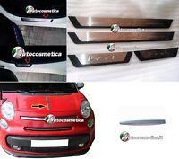 Rebord avec Logo 500L Métal + Cadre en Acier Chrome Coffre fiat 500L