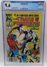 Transformers Marvel #2 1984 CGC 9.6 RARE NEWSSTAND WHITE PAGES First Printing