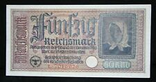 GERMANY 50 REICHSMARK BANKNOTE GERMAN OCCUPIED TERRITORIES WWII 1940-45 R140