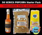 50 Serve Popcorn Starter kit Pack Makes 50 bags of Cinema Popcorn Popcorn Salt