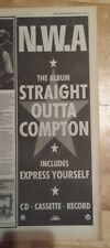 NWA Straight Outta Compton 1990 press advert Full page 13 x 38 cm mini poster
