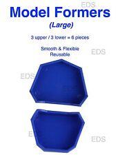 Dental Lab Model Formers - (Large)  kit 3 upper & 3 lower Blue Reusable Smooth