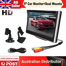 "5"" Digital TFT LCD Screen Rear View Monitor Dual Brackets For Car Reverse Camera"