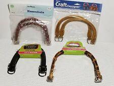Lot of (4) Purse Handbag Handles for Crafts: Bamboo, Wooden, Plastic *NEW*