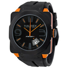 Haurex Italy Athenum Black and Orange Ion-plated Mens Watch 1N372UNO