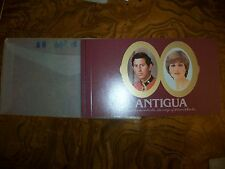 1981 Prince Charles & Lady Diana Antigua Royal Wedding Stamp Booklet