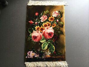 Persian Handmade silk/wool wall hanging rug  New