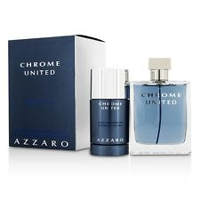 NEW Loris Azzaro Chrome United Coffret: EDT Spray 100ml/3.4oz + Deodorant Stick