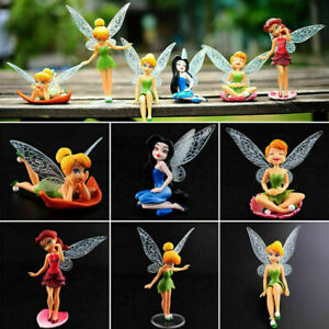 6pcs Tinker Bell Fairies Princess Figures PVC Cake Topper Secret KidParty Toy AU