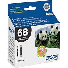 2 Genuine Epson T0681 black ink 68 69 WorkForce 30 40 310 315 500 600 610 615