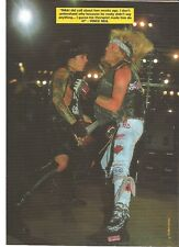 """MOTLEY CRUE Vince and Nikki in action magazine PHOTO / Pin Up /Poster 11x8"""""""