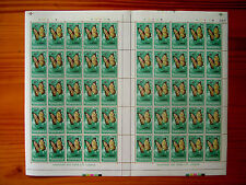 TANZANIA 1973 BUTTERFLY Issue TEN SHILLINGS Complete SHEET of 50 MNH.