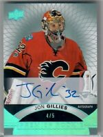 2017-18 UD Premier Rookie Premier Auto JON GILLIES 4 OF 5 ON CARD ROOKIE AUTO
