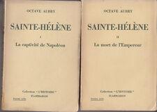 C1 NAPOLEON Aubry SAINTE HELENE Complet des 2 Volumes EPUISE
