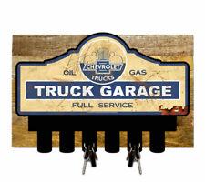 Licensed Chevrolet Truck Garage Key Hanger Holder w/ Wood Backing  KEY-0102R