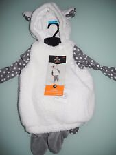 NWT HYDE AND SEEK INFANT LAMB SHEEP COSTUME SOFT 4 PIECE SET 6-12 MONTHS NEW