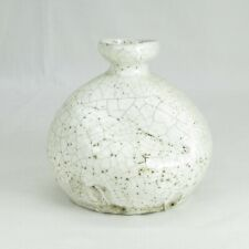 D363: Korean porcelain vase or bottle with KOBIKI glaze of Joseon dynasty style