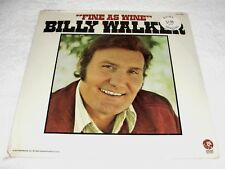 """Billy Walker """"Fine As Wine"""" 1974 Country LP, SEALED!, Original MGM Pressing"""