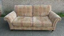 PARKER KNOLL Burghley 3 Seater Sofa, Gold Medallion Fabric, 200cm Wide
