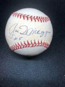 Joe DiMaggio Signed Baseball. Inscribed #5. 260/361. Steiner And Yankee Clipper