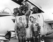 JOHN McCAIN w/ HIS SQUADRON & T-2 BUCKEYE TRAINER, IN 1965 - 8X10 PHOTO (RT202)