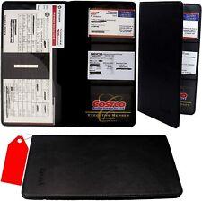 NEWBK Car Insurance holder registration card documents auto organizer PU Leather