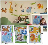 GIANT X LARGE Childrens Kids Boys Girls Baby JUNGLE ANIMALS Wall Stickers Decals