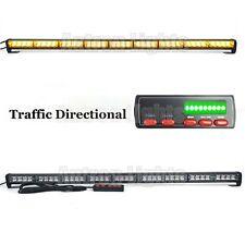 "39"" LED Traffic Advisor Warning Directional Arrow Strobe Light Bar Amber Yellow"