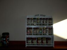Spice Rack will hold up to 30 jars SPICE HOUSE  IN WHITE   Made in Australia