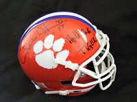 """Charlie Waters Clemson Autographed Mini Helmet with """"Hold That Tiger"""" Inscriptn"""